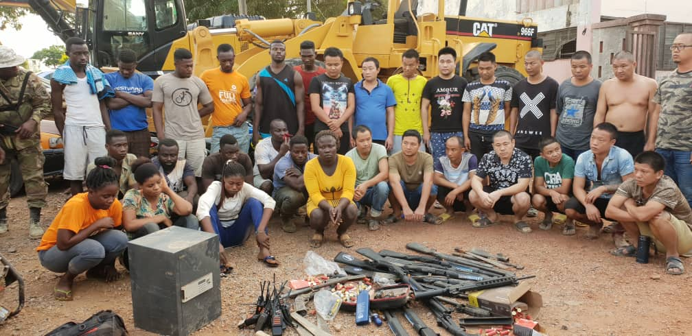Image result for guns chinese galamsey operation vanguard